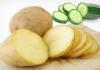 dưa chuột và khoai tây